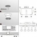 SET: ARGOS - LED (Boden-)Einbaustrahler MINIMAX-V2 rund IP67 RGB, inkl. Trafo und Controller/IR-Fernbedienung