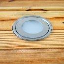 SET: 6x ARGOS - LED (Boden-)Einbaustrahler rund IP67 kaltweiß - inklusive Einbautank - inkl. Netzteil