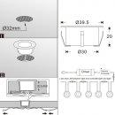 ARGOS - LED (Boden-)Einbaustrahler MINIMAX-V3 rund IP67 warmweiß dimmbar